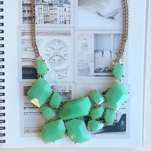 Chunky green mint necklace